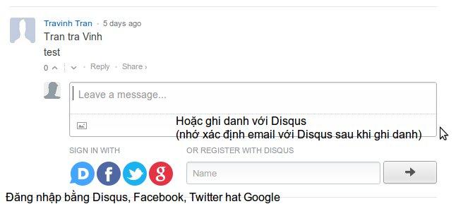 Trang ghi danh/góp ý sinh hoạt diễn đàn DCVOnline.