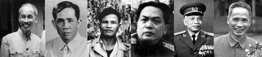 Những người đi cầu viện TC: Hồ Chí Minh, Lê Duẩn, Nguyễn Chí Thanh, Võ Nguyên Giáp, Văn Tiến Dũng, Phạm Văn Đồng,...