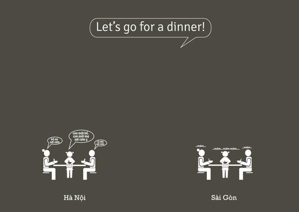 Mình đi ăn tối.