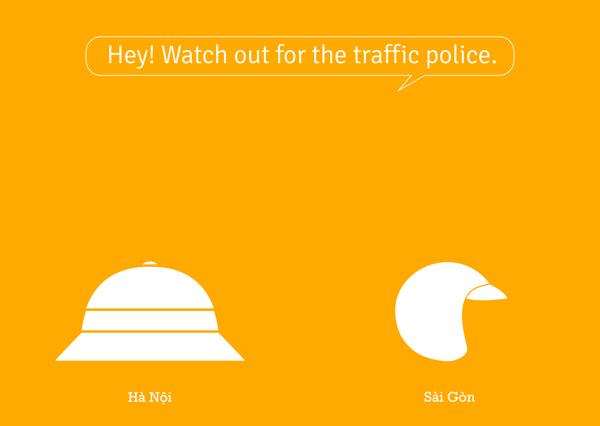 Coi chưng cảnh sát giao thông.