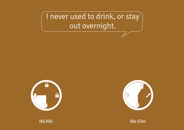 Tôi chẳng bao giờ nhậu hay đi chơ qua đêm.