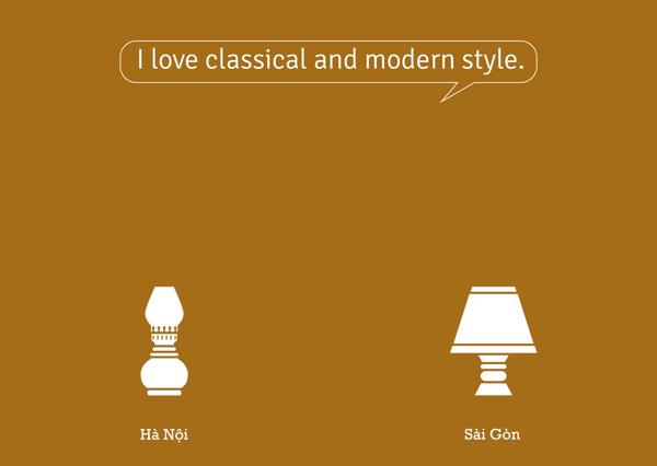 Tôi yêu cả hai, cổ điển và hiện đại.