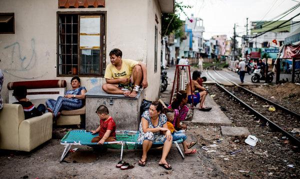 Một khu ổ chuột tại T.p. HCM: bất mãn tràn lan. Nguồn ảnh: Justin Mott for the International Herald Tribune