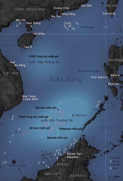 Biển Đông. Nguồn: http://vi.wikipedia.org