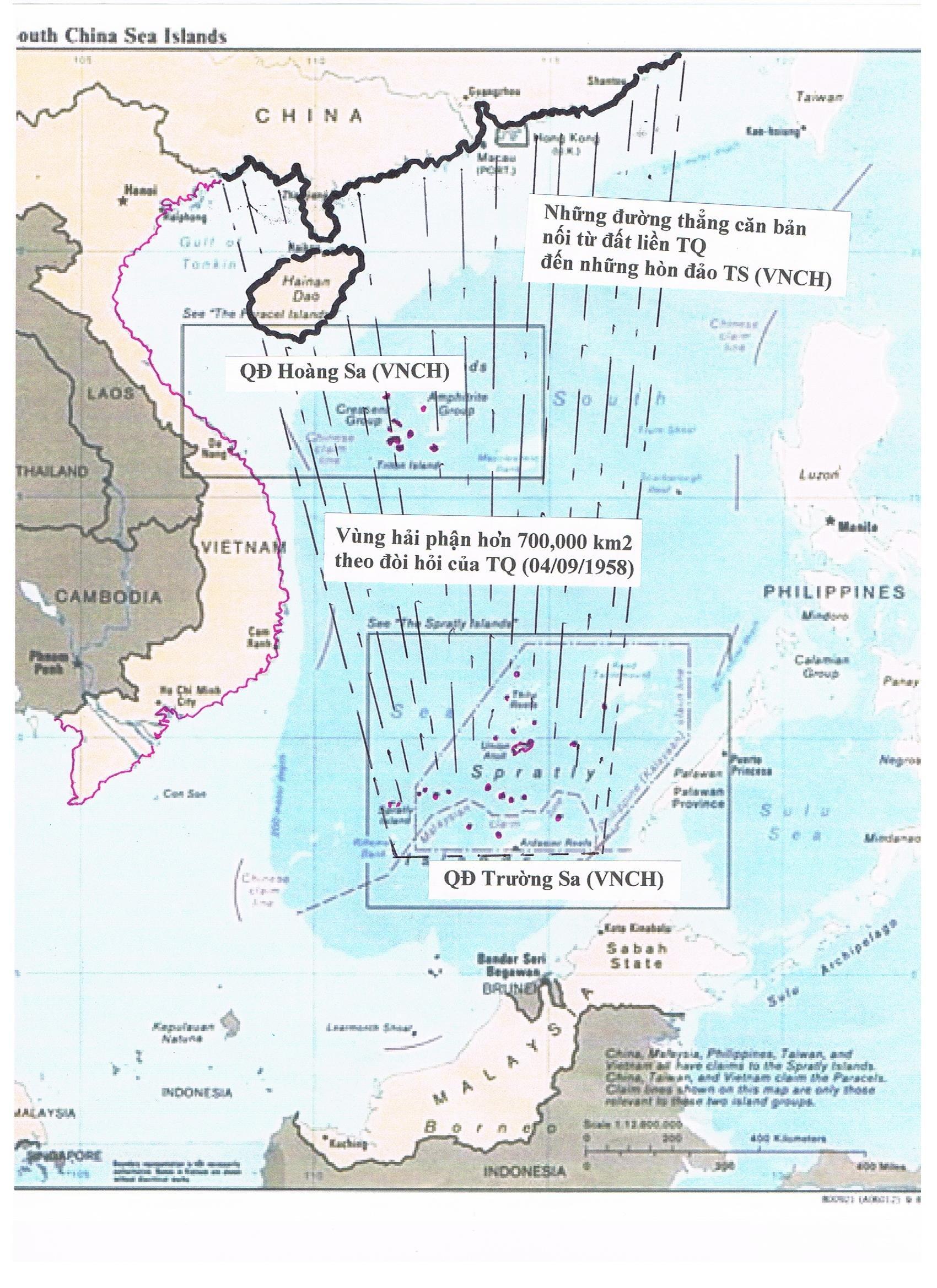 Một phần tuyên bố chủ quyền trên biển của Trung Quốc [trên biền Đông Việt Nam]