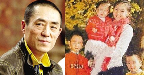 Trương Nghệ Mưu (t). Trần Đình và 3 trẻ. (p). Nguồn: china.org.cn