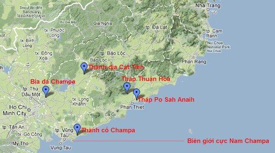 Vị trí Thánh địa Cát Tiên thuộc Panduranga.