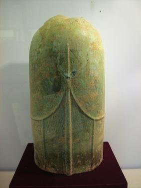 Linga bằng đồng trong khu di tích Cát Tiên