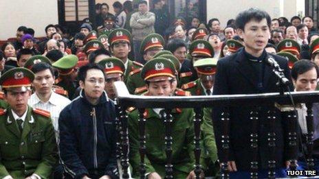Phiên tòa ở tỉnh Nghệ An trước đây. Nguồn hình: Tuổi Trẻ