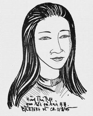 Hoàng Thị Ngọ do Etcetera vẽ theo lời mô tả (1985)