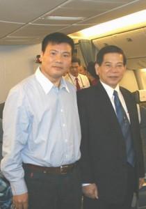 Trương Duy Nhất trong lần tháp tùng đoàn công du sang Mỹ với Chủ tịch nước Nguyễn Minh Triết. Nguồn: OntheNet