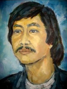 Chân dung Phanxipăng   do hoạ sĩ Lưu Đức Dũng  vẽ bằng sơn dầu dịp Tết Nuhâm Ngọ 2002