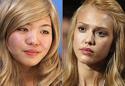 Xiaoqing, 21 tuổi, muốn sửa sác đẹp cho gióng Jessica Alba để giành lại người yêu. Nguồn: http://www.smh.com.au/