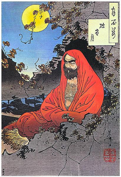 Bodhidharma. Nguồn: 4 Yoshitoshi, 1887.
