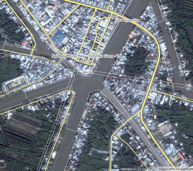 Ngã bảy Phụng Hiệp - Tirng Hậu Giang Việt Nam . Nguồn: Wikimapia