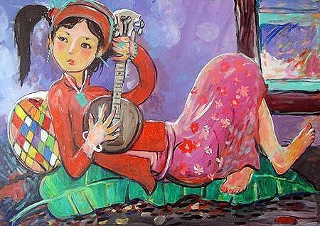 """Chơi đàn, """"bài vẽ"""" của bé Jacquelyn Ngo (6 tuổi)"""