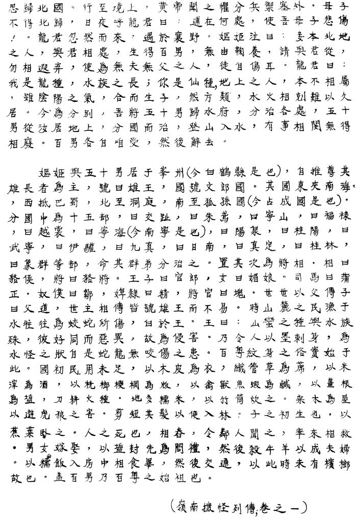 Hồng Bàng Thị Truyện. Nguồn: http://lib.agu.edu.vn/