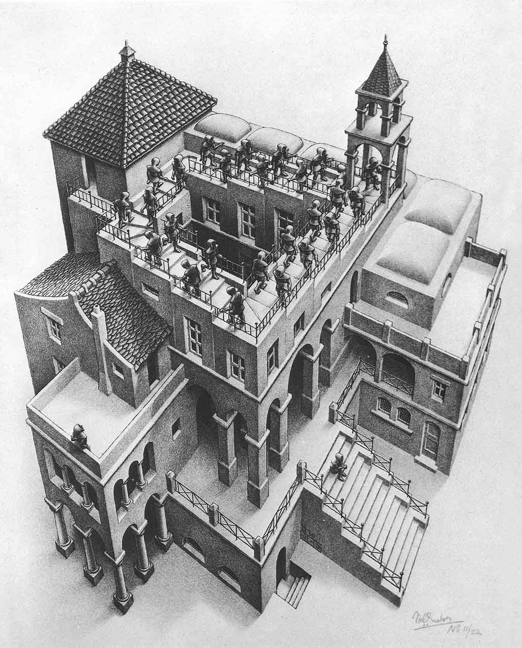 Tranh cuar M.C. Escher. Nguồn: meridian.net.au