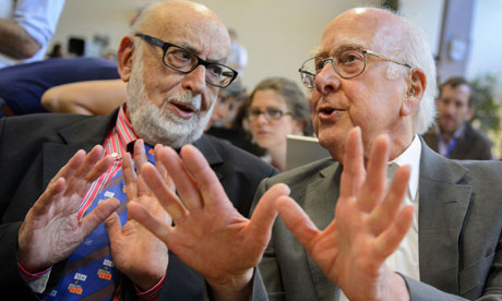 Francois Englert (left) and Peter Higgs (right) Read more at http://www.zmescience.com/science/physics/2013-nobel-prize-in-physics-awarded-to-god-particle-scientists-peter-higgs-and-francois-englert/#4H7Xq4vHjqAg3ztB.99