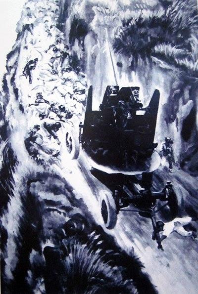 Tô Vĩnh Diện (1924 - 1953) đã anh dũng hy sinh khi lấy thân mình chèn pháo trên đường kéo pháo vào trận địa Điện Biên Phủ. Nguồn: http://vnexpress.net/