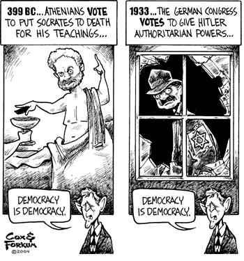 Dân chủ là Dan chủ? Nguồn: Cox & Forum