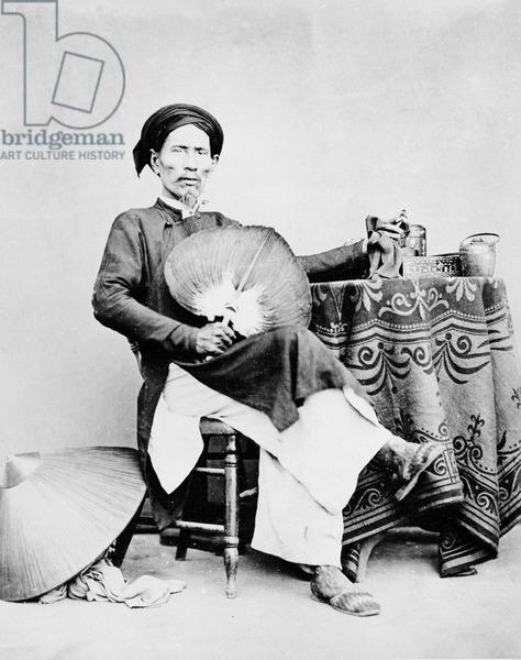 Đàn ông Annam, Saigon, c.1870s (b/w photo), Nhiếp ảnh gia châu Âu, (19th century) / Ảnh tư liệu / The Bridgeman Art Library