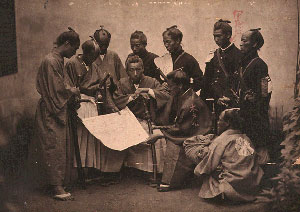 Võ sĩ đạo trong quân đội Chōshū từ các đơn vị khác nhau Nguồn: Đại học Thư viện Tokyo