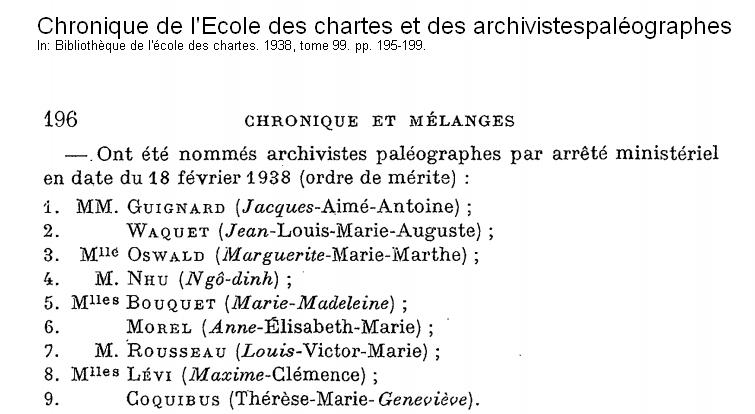 Biên niên của trường l'Ecole des chartes.