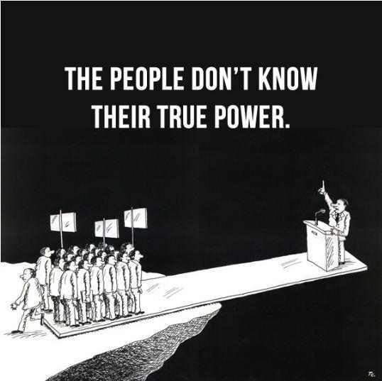 Người dân chưa biết sức mạnh của chính mình. Nguồn: OntheNet