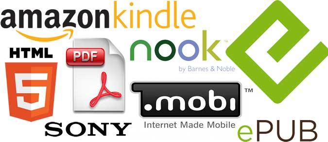 Vài máy đọc và dạng tiêu chuẩn của ebook. Nguồn: OntheNet
