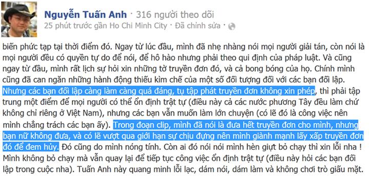 Facebook - Nguyễn Tuấn Anh, 09/12/2013