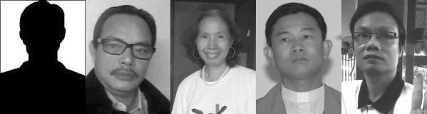 (Từ trái) - Lê Hưng, Ngô Nhật Đăng, Ngô Thị Hòng Lâm, Lm Đinh Hữu Thoại, Phạm Văn Hải. Nguofn: DCVOnline