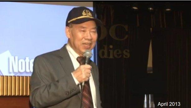 Cựu HQ Trung tá Hạm trưởng HQ4 Vũ Hữu San trong một buổi hooju thảo tại HOa Kỳ. Nguồn: YouTube
