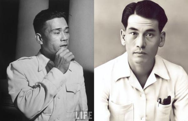 Người Việt gốc Triều Châu: Lê Văn Viễn, tướng Bình Xuyên (trái); Võ sư Mã Thanh Long (phải). Nguồn: LIFE/OntheNet