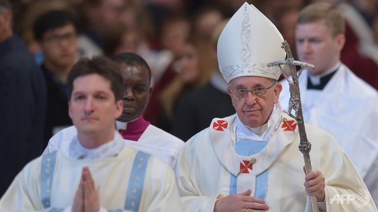 Giáo hoàng Francis trong thánh lễ đầu năm 2014. Nguồn: AFP/FILIPPO MONTEFORTE