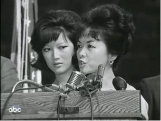 Bà Nhu và Lệ Thủ tại Fordham University. Nguồn: A Television History, ABCNews