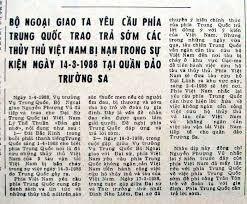 Báo đăng tin Việt Nam phản đối TQ đánh Trường Sa. Nguồn: OntheNet
