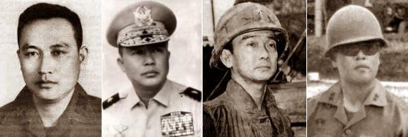 Bốn vị tướng trong những sỹ quan VNCH đã hy sinh cuối tháng 4, 1975: Lê Nguyên Vỹ, Trần Văn Hai, Lê Vưn Hưng và Nguyễn Khoa Nam. Nguồn: OntheNet