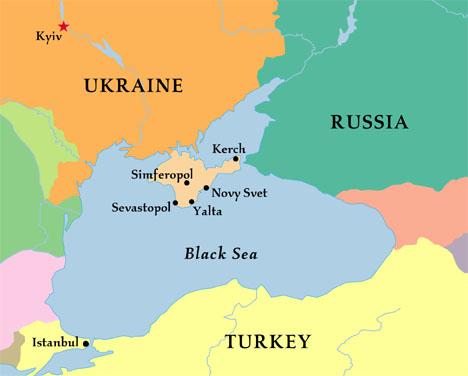 Ukraine và lân bang. Nguồn: Onthenet