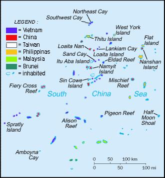 Đá Vành Khăn là một rạn san hô vòng thuộc cụm Bình Nguyên của quần đảo Trường Sa. NGuồn: Wikipedia.org