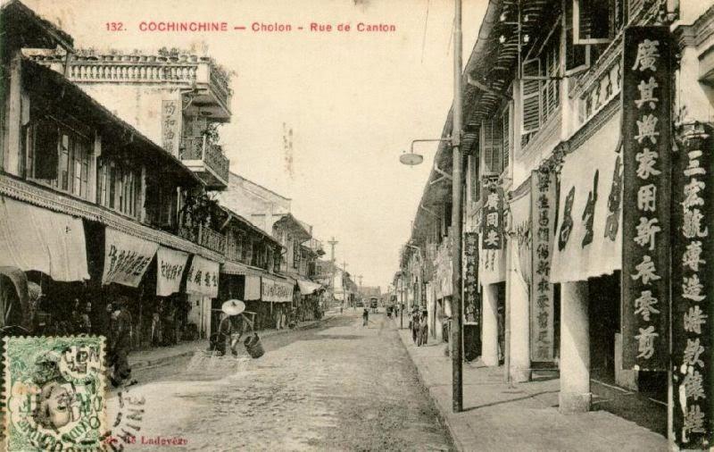 Đường Canton ở Chợ Lớn cũ. Nguồn: hinhxua.free.fr