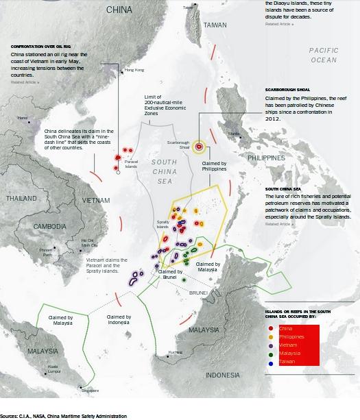 Sources: C.I.A., NASA, China Maritime Safety Administration