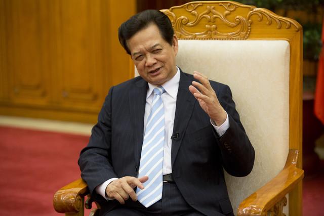 Nguyễn Tấn Dũng, thủ tướng Việt Nam, trong một cuộc phỏng vấn tại Hà Nội ngày Thứ Sáu 30 Tháng 5, 2014. Nguồn:  Brent Lewin / Bloomberg