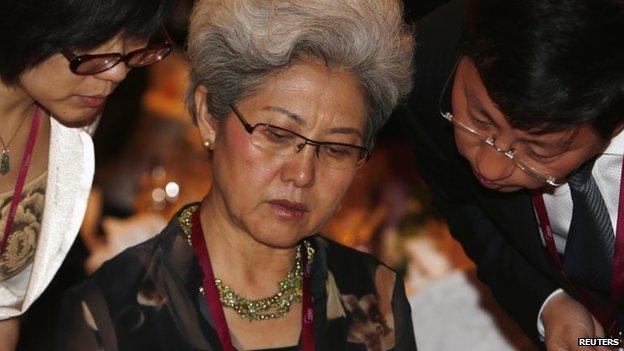Thứ trưởng Ngoại giao Trung Quốc Fu Ying tại Đối thoại Shangri-La ở Singapore, ngày 30 tháng 5 năm 2014. Nguồn: