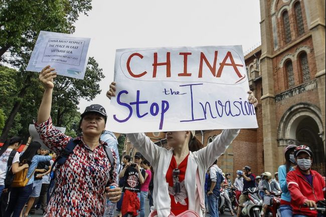 Biểu tình chống Trung Quốc (Sài Gòn, 11/5/2014). Nguồn: Le Quang Nhat AFP/Getty Images