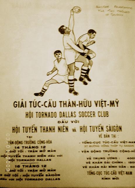 Bích chương Giải Túc cầu Thân hữu Việt-Mỹ năm 1967. Nguồn: Blog Nguyễn Ngọc Chính.