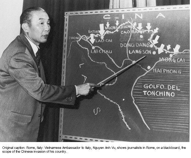 Đại sứ CHXHCNVN tạu Ý, Nguyễn Anh Vũ, trình bày cuộc xâm lăng năm 1979 của TC. Nguồn: OntheNet.