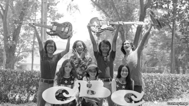 Ban nhạc CBC (Con Bà Cụ) bắt đầu hoạt động từ tháng Bảy năm 1963. Nguồn: VOA tiếng Việt.