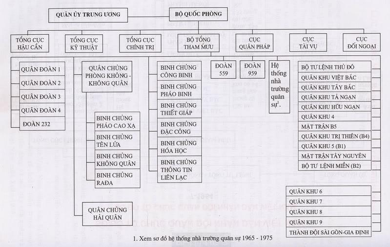 Sơ đồ tổ chức của quân cộng sản Bức Việt giai đoạn 1965-1975. Nguồn: OntheNet.