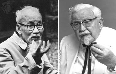 Hồ Chí Minh |Đại tá Sanders. Nguồn: OntheNet